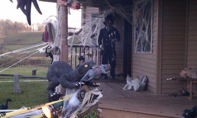 Прикольные декорации на Хэллоуин (9 фото)