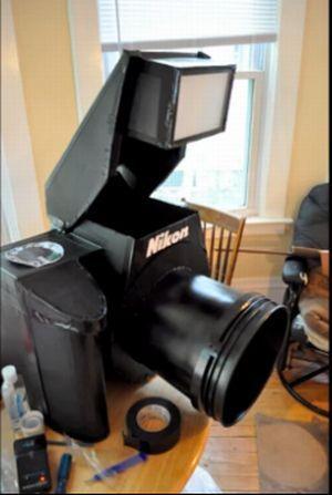 Костюм в виде фотокамеры (17 фото + 1 видео)