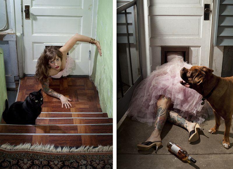 Фотопортреты Карли Девидсон: Домашние питомцы и их хозяева (19 фото)