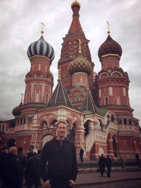 Основатель Facebook Марк Цукерберг посетил Москву (8 фото)