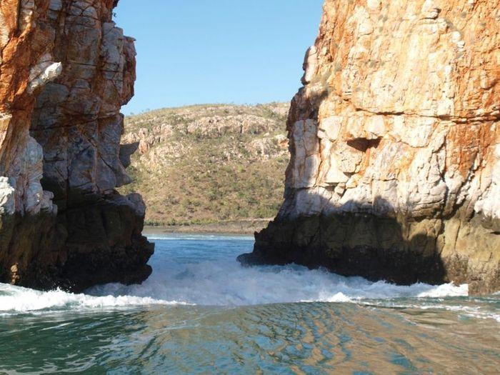 Горизонтальный водопад (9 фото)