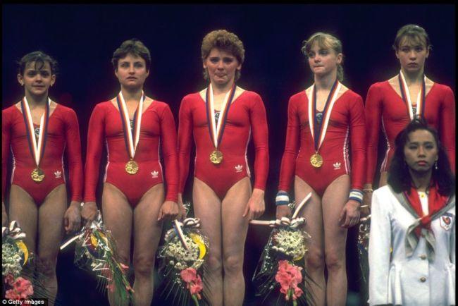 Елена Львовна Шушунова, советская гимнастка, олимпийская чемпионка, неоднок