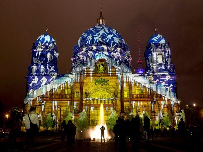 Фестиваль огней в Берлине (10 фото)