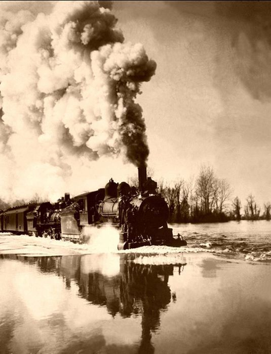 Развитие железной дороги Америки конца 19го века (58 фото)