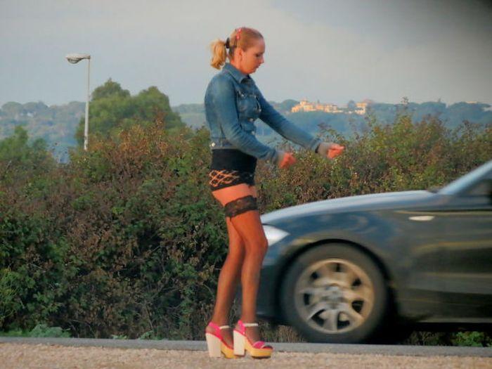 Проститутку сняли у дороги профессионалка индивидуалка