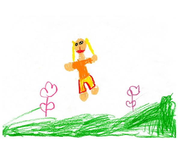 Детский смешной рисунок, баня крутяк доброе