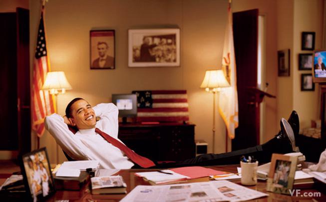 Март 2008: Барак Обама, младший сенатор США от штата Иллинойс. Photograph by Jonas Karlsson.