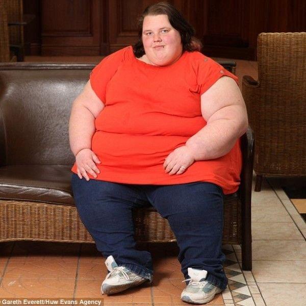 Самый толстый подросток Британии (3 фото)