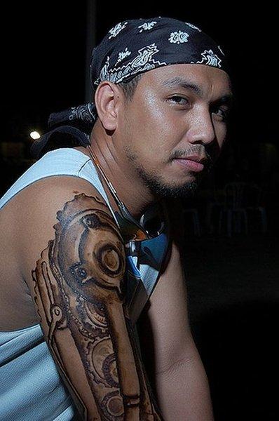 Татуировки в стиле киберпанк (20 фото)