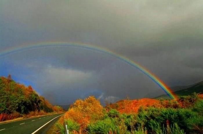 Разнообразные радуги (8 фото)