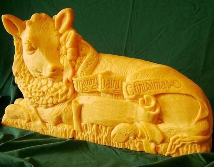 Сара Кауфман: съедобные скульптуры из сыра (9 фото)