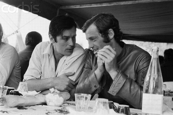 Два великих актера - Ален Делон и Жан-Поль Бельмондо (22 фото)