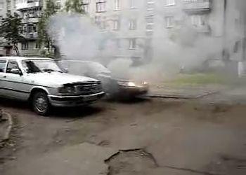 Возгорание моторного отсека автомобиля