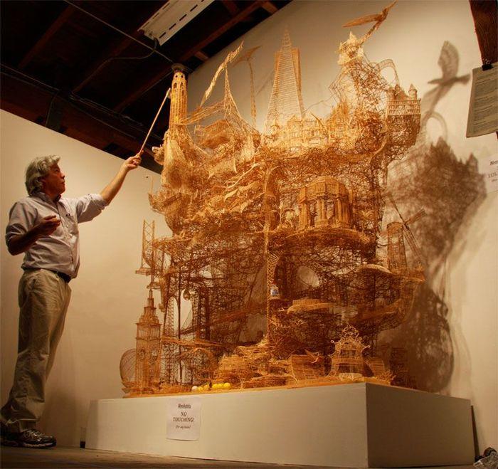 Скульптура из зубочисток (13 фото)
