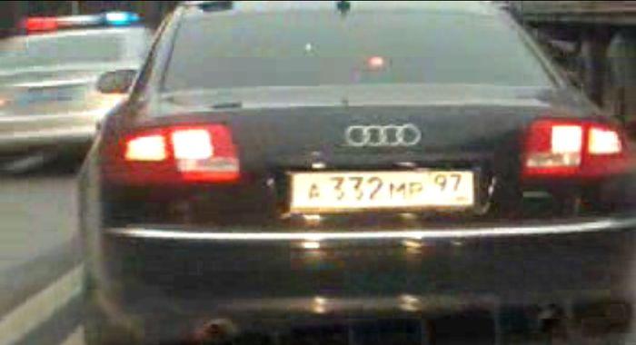 Автомобиль Курзенкова Г.К. снова засветился на встречной полосе (видео)