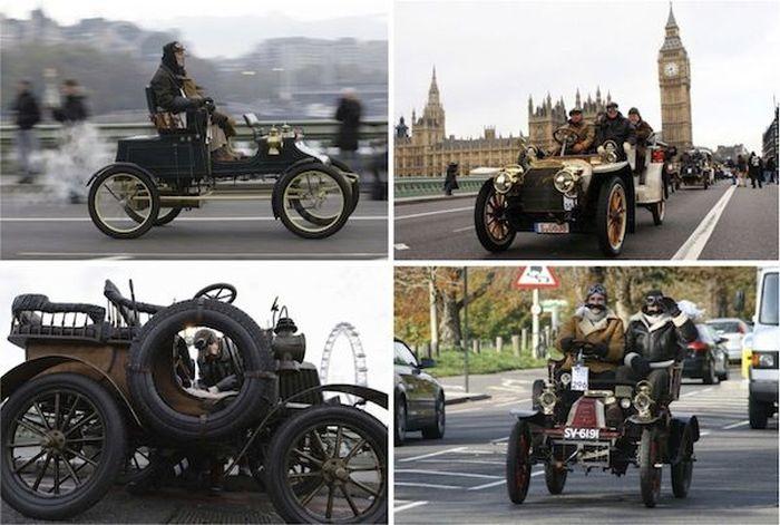 Пробег ретро автомобилей в Англии (45 фото)