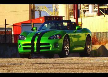 Отжиг резины на Dodge Viper