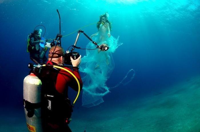 Как делается подводная съемка (14 фото)