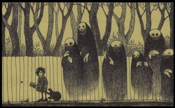 Страшные рисуночки (16 фото)