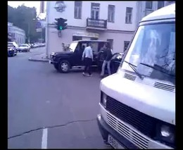 Потасовка на дороге
