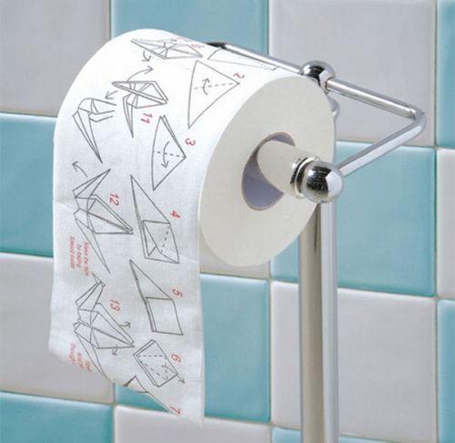 Туалетная бумага с пособием по оригами