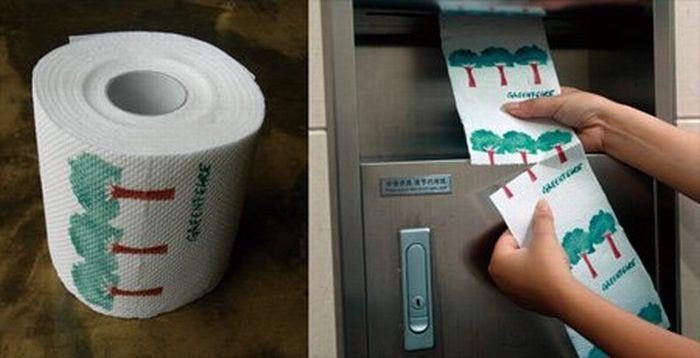 Экологически-ориентированная экономная туалетная бумага от Greenpeace