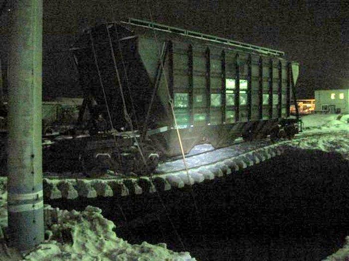 Провал на железной дороге (4 фото)
