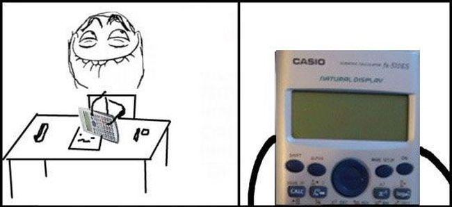 Как рисовать комиксы с помощью калькулятора (5 фото)