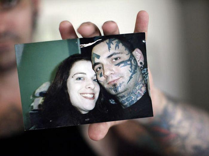 Брайон Виднер, удаление нео-нацистских татуировок с лица (12 фото)