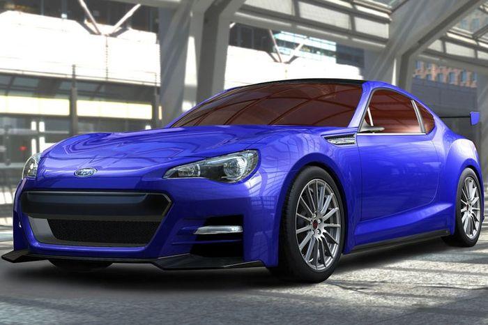 Официальные фото нового Subaru BRZ Concept STi  (5 фото)