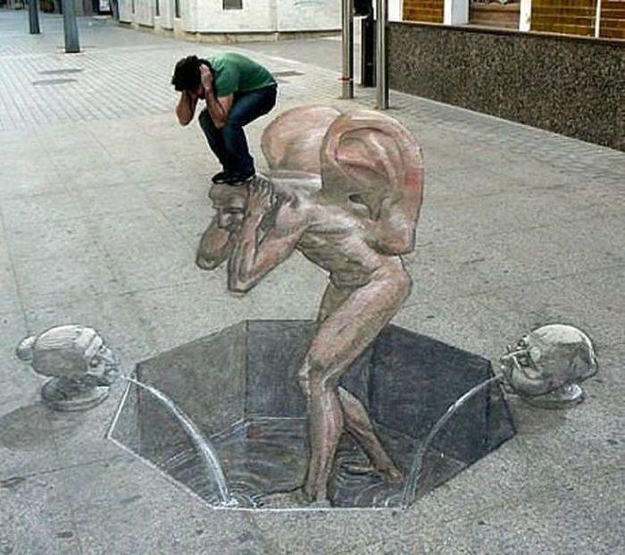 Красивые 3D рисунки на улице (48 фото)