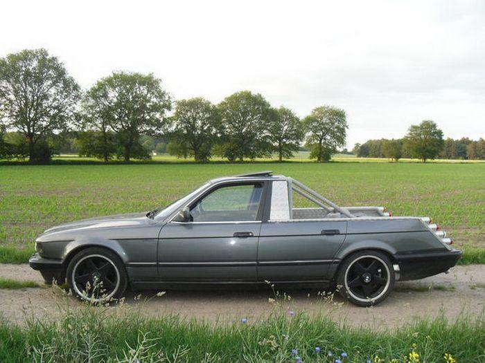 Пикап на базе семерки BMW - оригинальное уродство (14 фото)