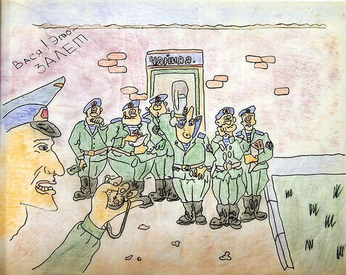 Прикольные картинки в армейский альбом
