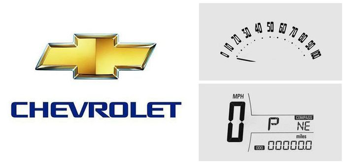 История дизайна спидометра Chevrolet (49 фото)