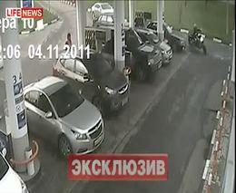 Юрий Антонов и байкер - драка на АЗС