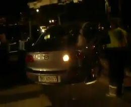Попытка эвакуировать пьяного водителя
