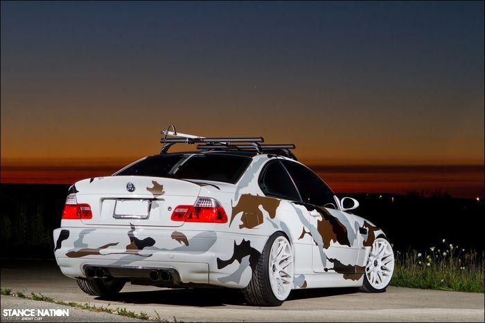 BMW M3 E46 в камуфляже (10 фото)