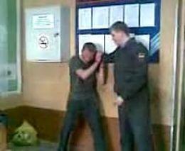 Пьяный водитель в отделении