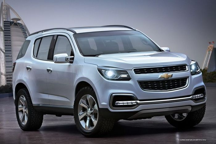 Компания Chevrolet показала новый Trailblazer (6 фото)
