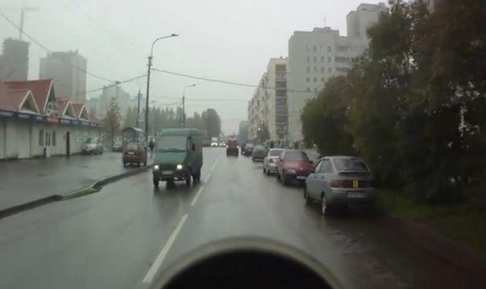 Мега невезучий водитель автобуса (видео)