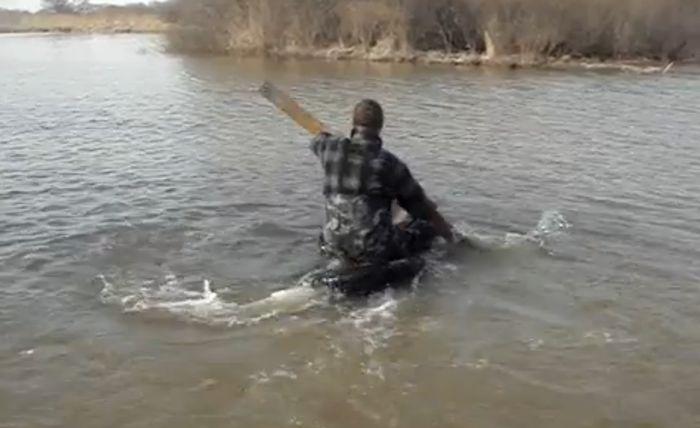 Русская смекалка на охоте (видео)