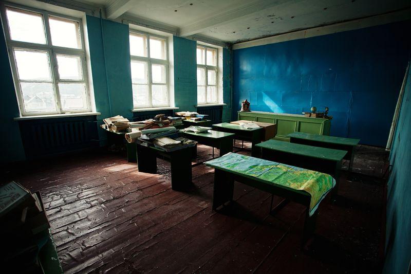 1460 Заброшенная школа на Кольском полуострове