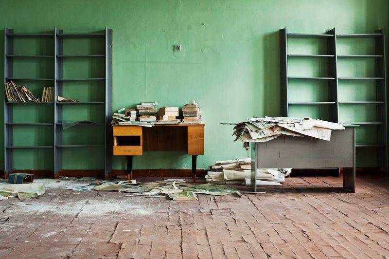 2728 Заброшенная школа на Кольском полуострове