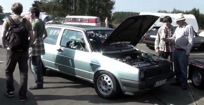 Гольф 2, который уделает Veyron (видео)
