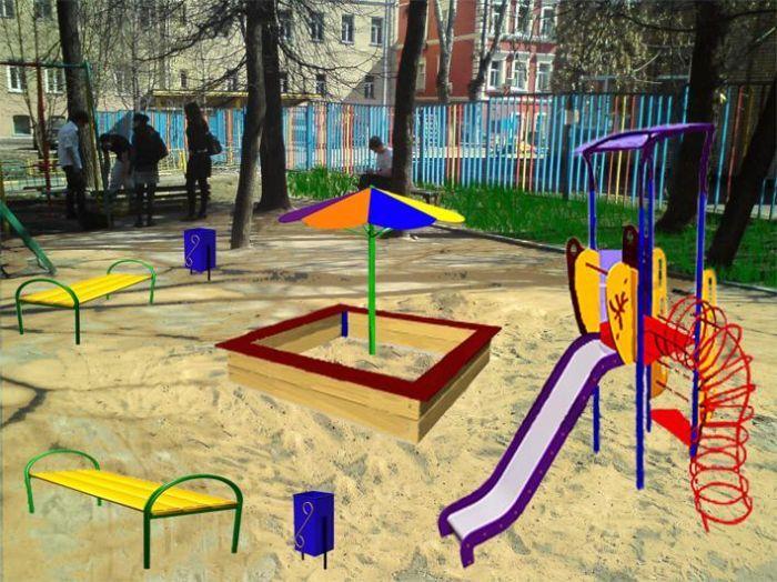 Благоустройство дворов Замоскворечья (54 фото)