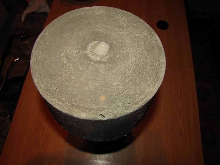 Самодельные гантели из бетона (8 фото)