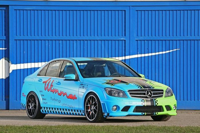 C63 AMG BlueGreen Eliminator от Wimmer RS (10 фото)