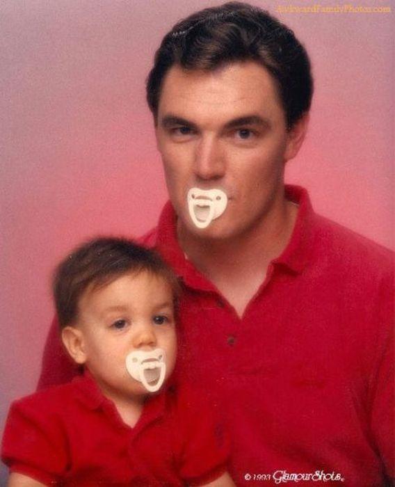 Смешные и странные семейные фотографии (39 фото)