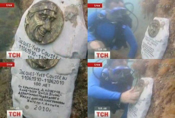 Памятник Жаку-Иву Кусто (1 фото + 1 видео)