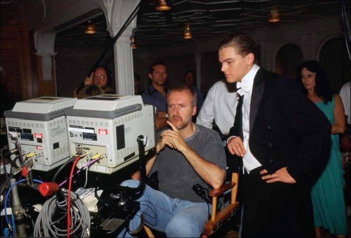 За кадром фильма Титаник (35 фото)